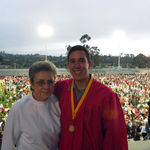 Sadie (Nana) with grandson Grant at his high school graduation .