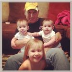 Papi, Ryleigh, Everleigh & Falynn. His pride and joy