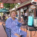 Enjoying ice cream at Solvang