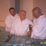 Entering the waters of baptism
