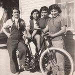 Nellie (Right), her sister Ramona (second from right), her sister gloria (second from left) and a friend