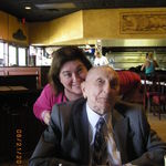 Phyllis with Harry on his 93rd Birthday