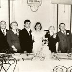 Dad and Mom Wedding picture with their parents