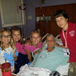 Gammie & her grand babies.  Sept 2012