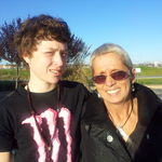 Gammie & her only grandson.  Oct 2012