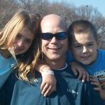 Son Michael with his children Erin and Thomas