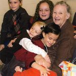 with Harris children at her church. November 2012