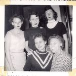 Mary Lou with her friends 1950's