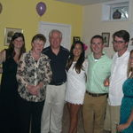 Maryann and her family at Brian's and Liliana's Engagement Party