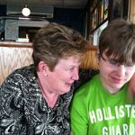 Aunt Mary Ann out to lunch at Hoak's with her nephew EvanOvaska