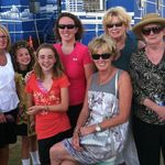 With sisters and nieces, Megan and Emma, and greatneice Bridgit.