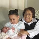Grandma Espie with Haylie (few weeks old) & Tiffani 2007