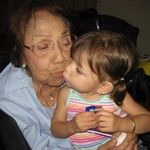Haylie loves her Great-Grandmother, lots of kisses.