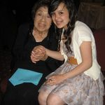 Celebrating Grandma Espie 90th bday with Tiffani (great-grandaughter) 2012