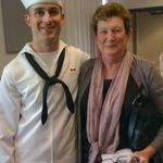 Brian and Mare at Brian's Navy Bootcamp Graduation