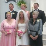 Brandon with his Mom, Dad, Sister, Aunt and Grandmother.