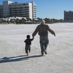 Grandpa and Doug at Clearwater Beach, January 2011
