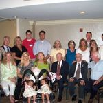 Mac's 85th birthday!  Every family member came for this bash. Those 2 babies are his great-grands.
