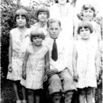 Mom at a young age with her brothers and sisters.