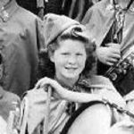 Helen in Grammer School Band, 1941