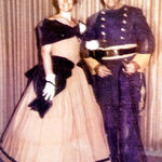 Helen & Collier ready for a costume ball, 1969.
