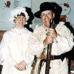 Helen & Collier in Frontier costumes, 1980s.