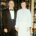 Helen and Collier dressed for another dinner, 1980s.