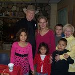 Holly and Pat with granddaughter Desi and her children