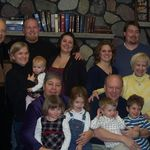 Holly and Pat with Chip and Vicki and their kids at our family reunion in 2009