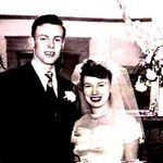 Pat and Holly wedding picture 1950