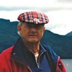 July 1998, Scotland, Larry with Loch Long in the background.