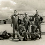 Larry with his Air Force Buddies, Korean War.