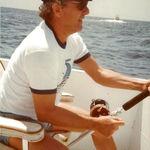 Larry fishing.