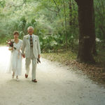 February 28th, 1997, walking to the Tower in Lettuce Lake Park, Temple Terrace, FL, where we will become husband and wife!
