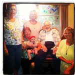 Photo taken Aug 2012 with Dad's niece Linda when she was visiting along with us girls and Joce!