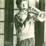 Sidney playing his Trumpet