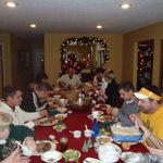 Our wonderful family dinners we all had together.
