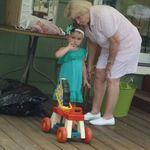 July 2011, Nannie with Lyhla.