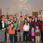 December 2012-Dalton Ryan's Baptism with the Ryan, Kirk and Gilliam families.