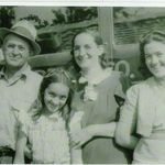 Ginalee, her older sister, Rebecca and her parents, Inez and George Owen