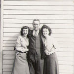 Virginia and her sister Rebecca with their Uncle Turk, their mother's twin