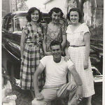 Moma and Rebecca and their cousins, Mava Lee and Charles Crawford