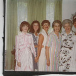 Sunday mornings in Gonga's-(Inez owen), ready for church: Laura, Cindy, GinaLee, Gonga, Rebecca, Melissa
