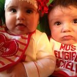 Jaelyn and Justus sporting their Valentine's Day stuff from Nannie.