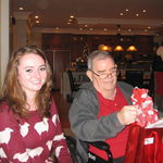 Jessie Bevis with Grandad at 2012 Xmas