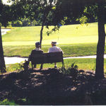 Dad & Pap Lerch relaxing at Virginia Oaks golf course
