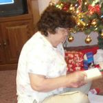 My Nannie at Christmas.