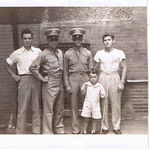 Right to left:  The boys at West Point Mac's younger brother, Dick McDaniel, , Class of 1946. Mac McDaniel, Frank Marvin, Frank's younger brother