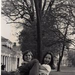 "Ann with ""Best Friend"" from UVA college years Steve Kain on The Lawn."