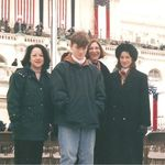 Ann with M.J. and Brendan Hayden, and friend Mary Kahl at Presidential Inauguration January 1997.